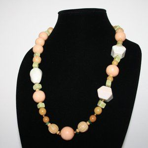 """Chunky vintage beaded necklace 24"""""""